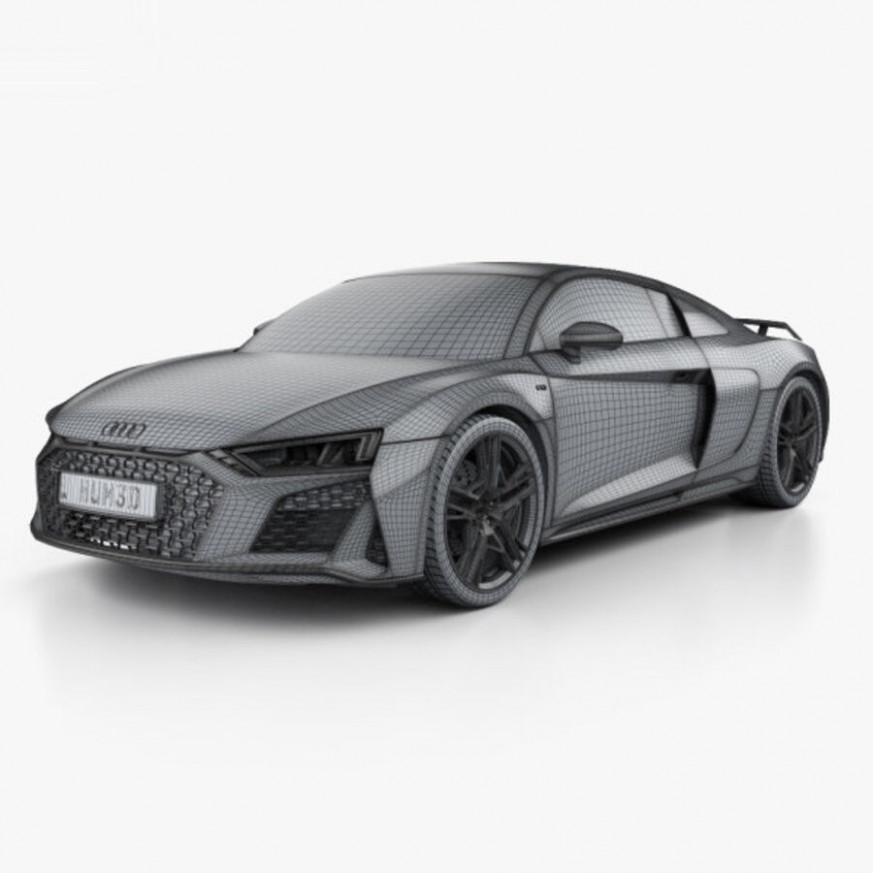 Engine Audi R8 2022 Black