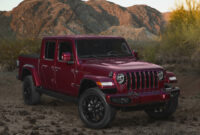 new model and performance 2022 jeep gladiator msrp