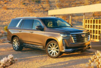 new model and performance cadillac suv escalade 2022