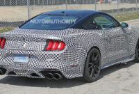 new model and performance spy shots ford mustang svt gt 500