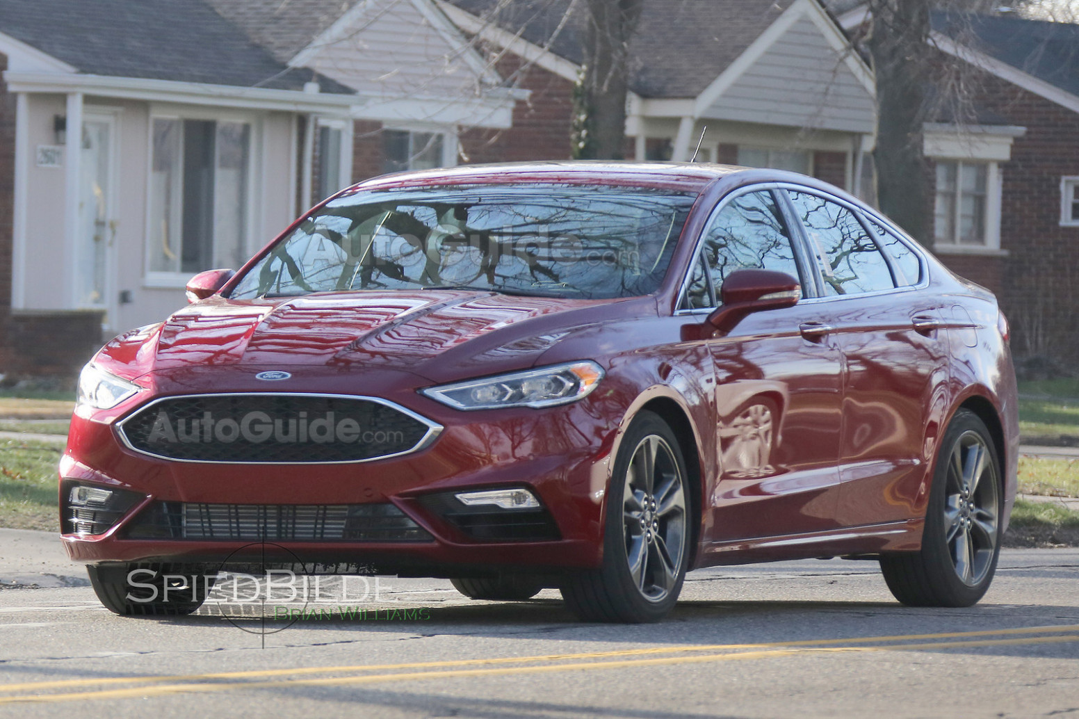 First Drive Spy Shots Ford Fusion