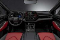 redesign toyota highlander 2022 interior