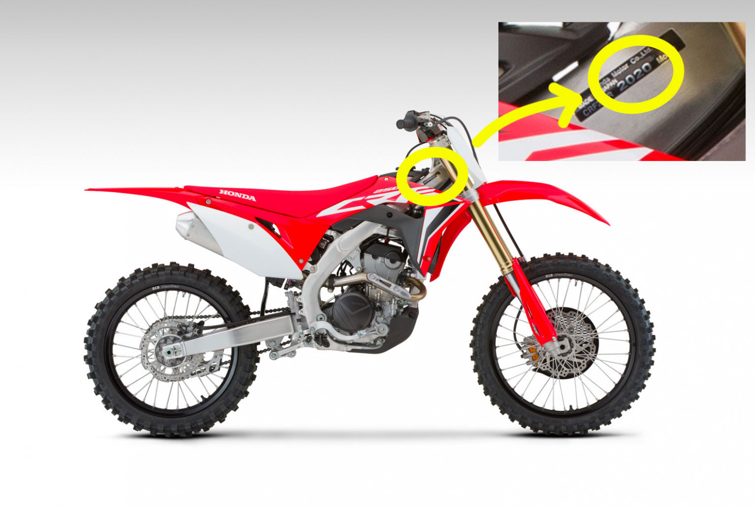 Spesification 2022 Honda Dirt Bikes