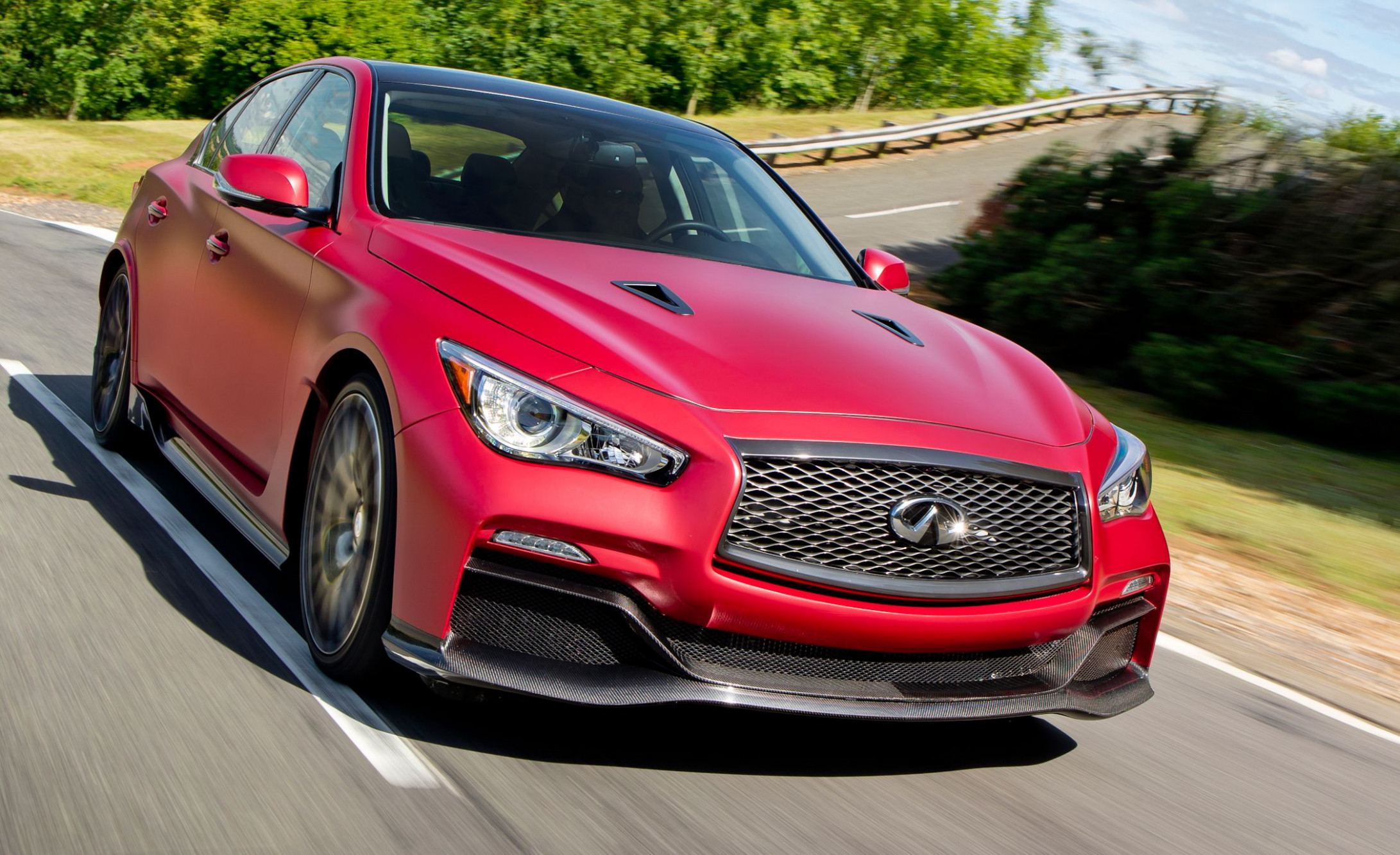Wallpaper 2022 Infiniti Q50 Coupe Eau Rouge