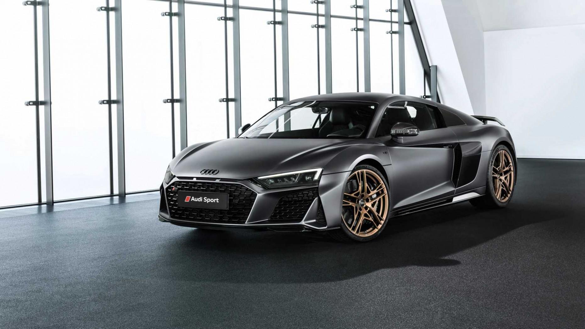 Wallpaper Audi R8 2022 Black