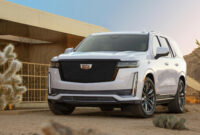 new model and performance pictures of the 2022 cadillac escalade